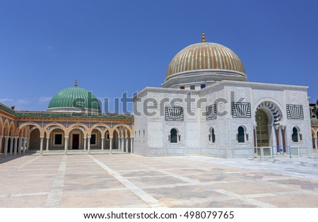 Monastir, Tunisia - August 9, 2013: Mausoleum of Habib Bourgiba, the first President of the Republic of Tunisia