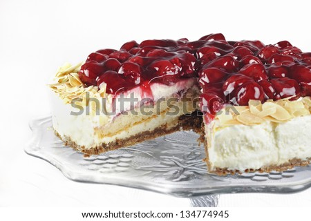 monchou pie with cherries