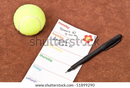 Monday and Tuesday To-Do's - stock photo