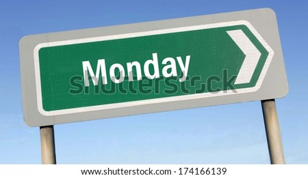 Monday week next or following day schedule concept for appointment or event in agenda  - stock photo