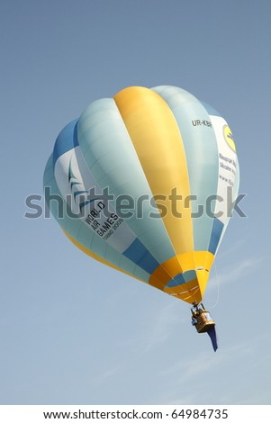 MONDOVI, ITALY - JUNE 30: World Air Games,  a phase of flight of the world by hot air balloon race held in Mondovi, Italy on June 30, 2009 - stock photo