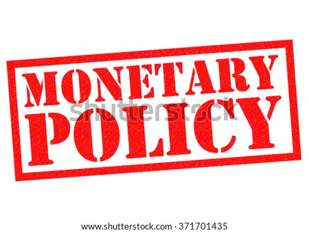 MONETARY POLICY red Rubber Stamp over a white background. - stock photo