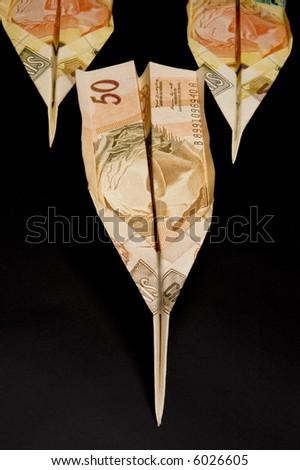 money airplane - stock photo