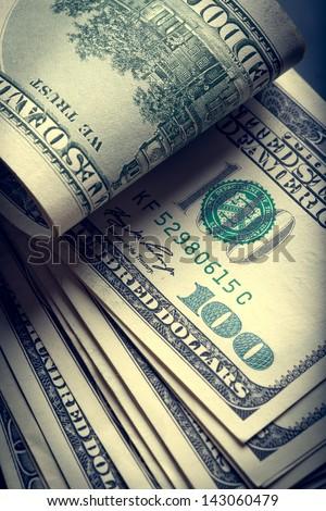 Money american hundred dollar bills - stock photo