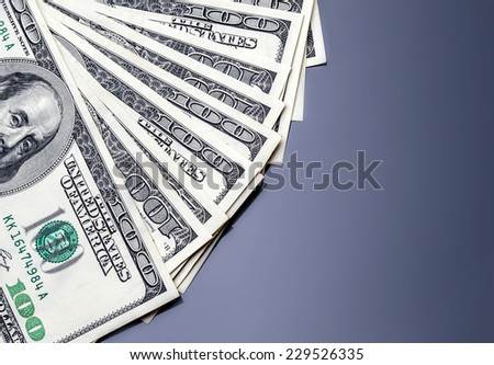 Money american hundred dollar bills - stock photo