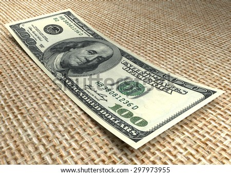 Money and business concept. One hundred dollar banknote - stock photo
