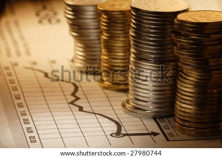 money and chart - stock photo