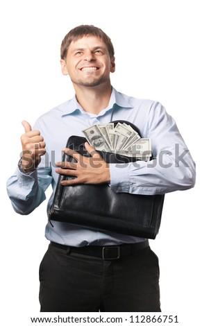 money and man - stock photo