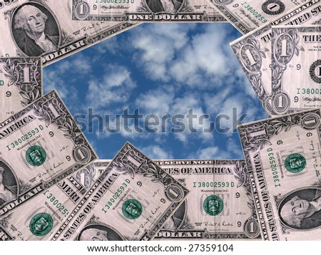 money and sky - stock photo