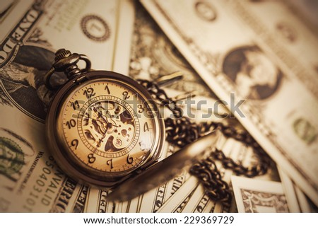 Money and Time Background - stock photo