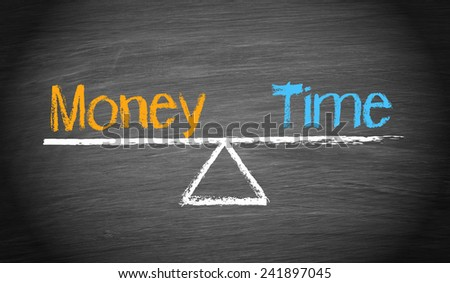 Money and Time - Balance Concept - stock photo