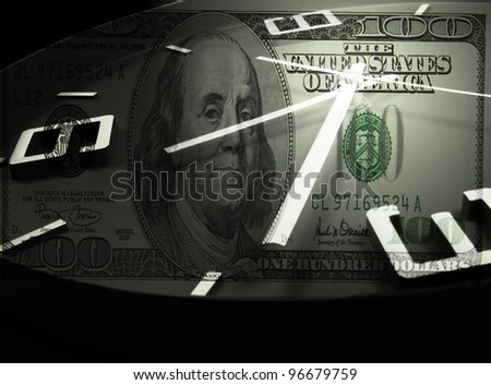 money and time never wait - stock photo