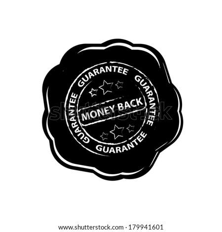 Money Back Guarantee wax seals - jpeg. - stock photo