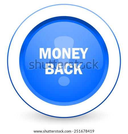 money back icon   - stock photo