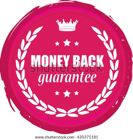 Money back stamp. - stock photo