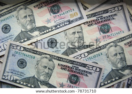 Money background - stock photo