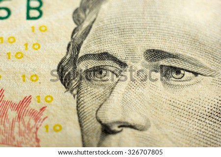 Money background - American dollars.