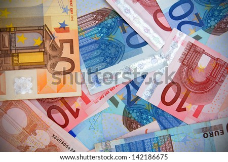 Money background. Euro.