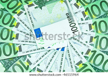 money  background,euro banknote - stock photo
