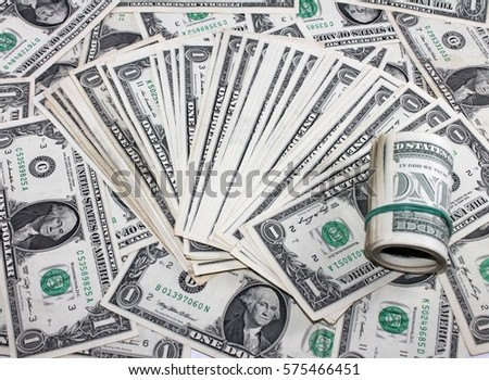 Money background from dollars usa. one Dollars