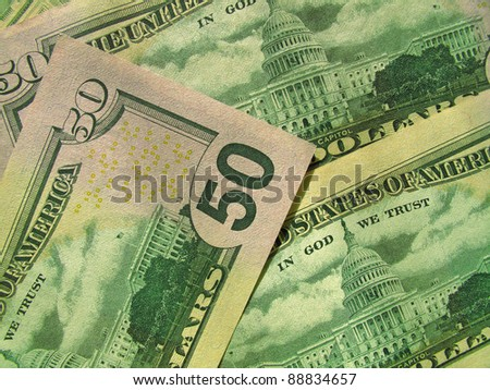 money background from new american dollars - stock photo