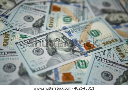 Money background - hundred american dollars