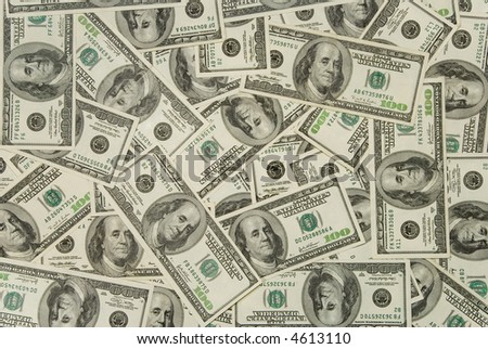 Money background - hundred dollars greenback