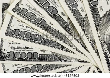 money background - one hundred dollars - stock photo