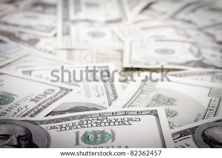 Money background. Shallow focus. - stock photo