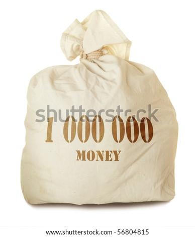 Money bag isolated - stock photo