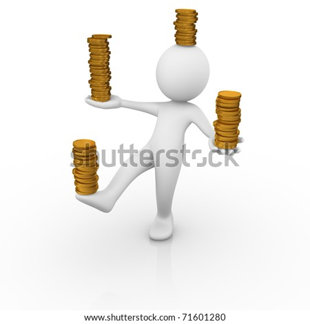 Money balance / Money control - stock photo