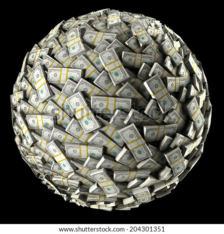 Money Ball - stock photo