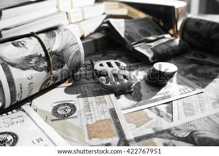 Money Black & White Stock Photo High Quality  - stock photo
