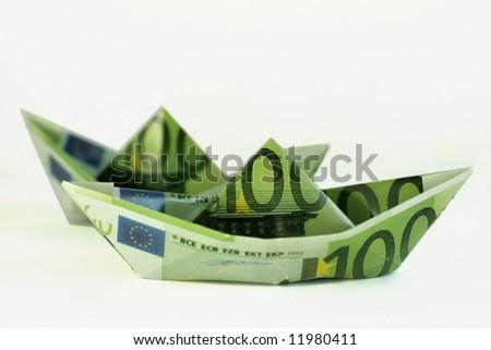 Money boat - stock photo