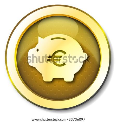 Money box euro icon - stock photo