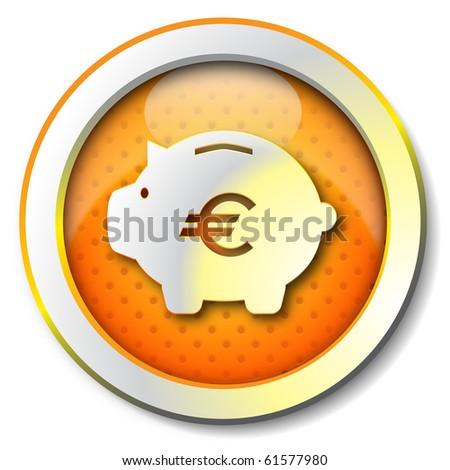 Money box icon - stock photo