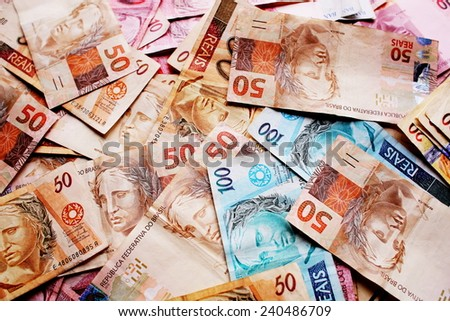 Money Brazil - stock photo