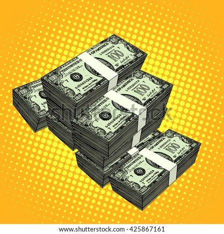 Money bundle of dollars - stock photo