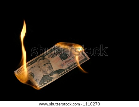 money burn - stock photo