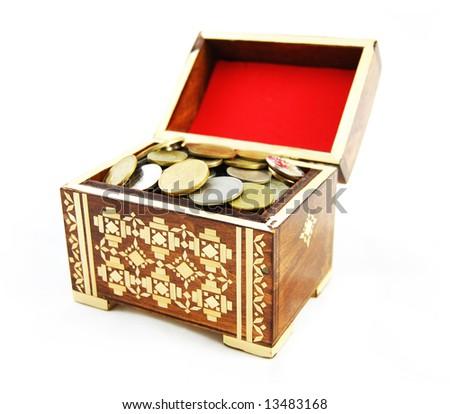 money chest - stock photo