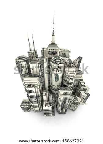 Money city - stock photo