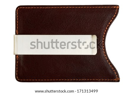 Money Clip. Isolated on white background, saved with clipping path. - stock photo