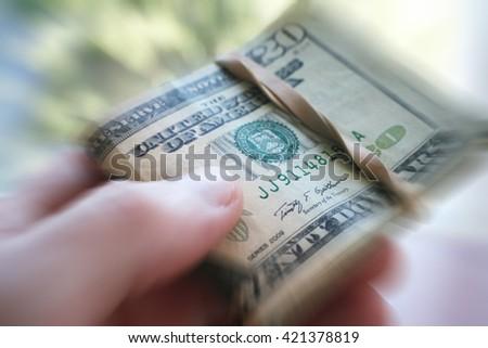 Money Close Up Zoom Burst Effect Stock Photo High Quality - stock photo