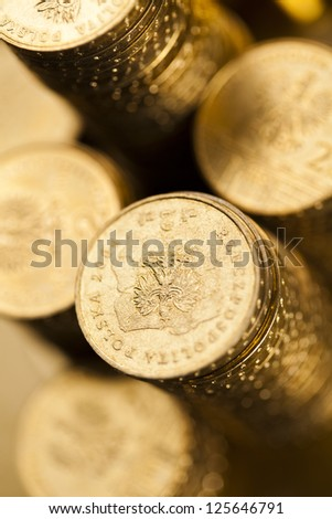 Money, coins background - stock photo