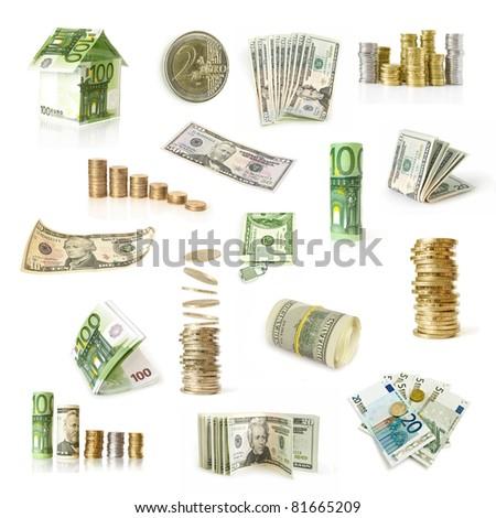 money collection - stock photo