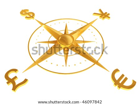 Money concept - Dollar, Euro, Pound, and Yen - stock photo