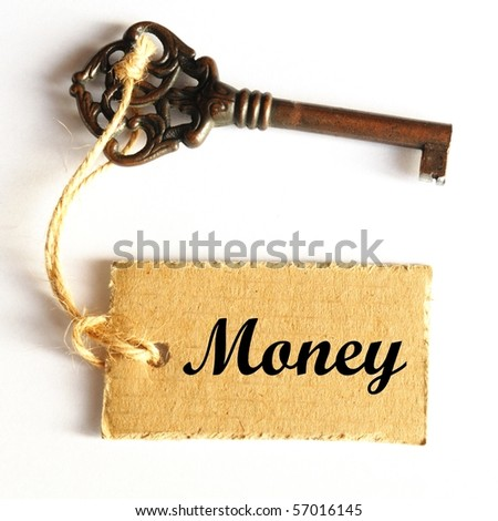 money concept with key and label with word showing success - stock photo