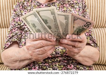 money counting - stock photo