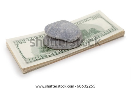 Money crushed stone