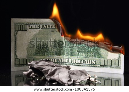 money dollar - stock photo